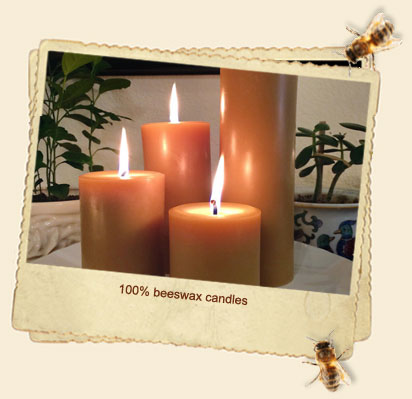 100 Percent Pure Beeswax Candles