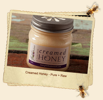 creamed honey pure + raw