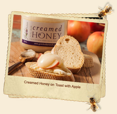 creamed honey toast apple