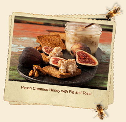 pecan creamed honey and toast