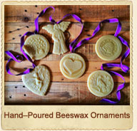 Hand-Poured Beeswax Ornaments