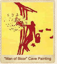 Man of Bicor Cave painting